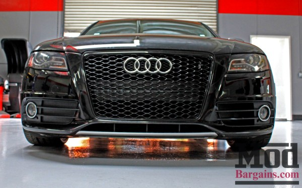 Quick Snap: B8 S4 Audi RS4 Style Grille Install + Drop with H&R Springs for S4