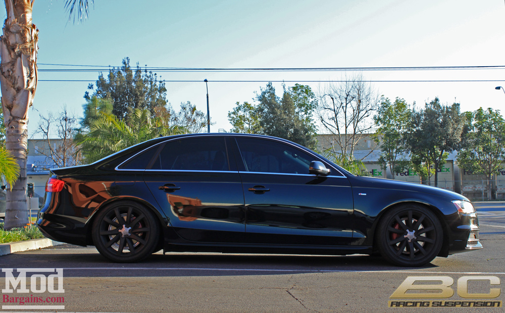 Quick Snap: Lowering a B8 Audi A4 on BC Coilovers