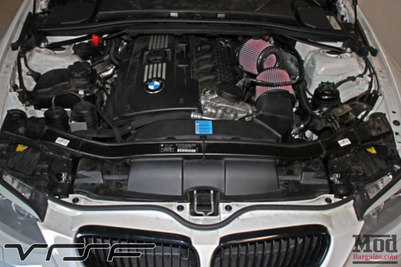 BMW E93 335is White VRSF FMIC Intake Chargepipe JB4 006
