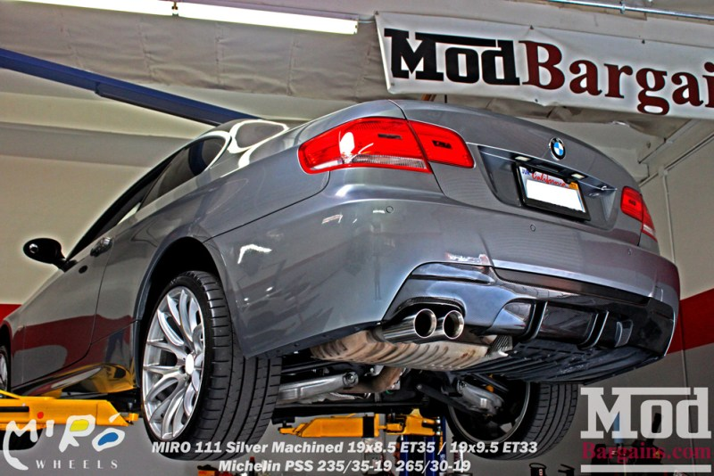 BMW_E92_328i_Gray_CF_Performance_Diffuser_BilsteinShocks_Miro_111_wheels_silver_19x85et35_19x95et33_HRSprings_img003