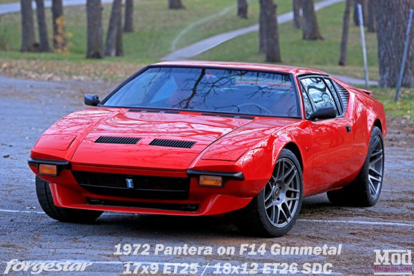 American Exotic: DeTomaso Pantera gets Forgestar F14 Super Deep Concave Wheels