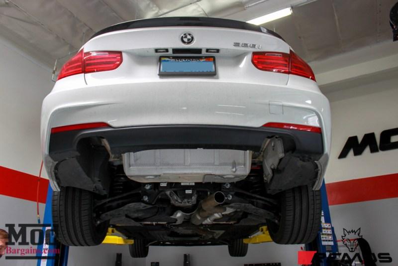 BMW F30 328i Msport Yutao Remus Quad Exhaust Ceramic Black Tips