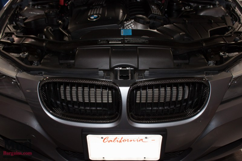 Carbon Fiber Grilles Gray BMW E90 328i Modification