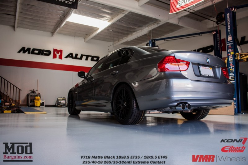 Gray BMW E90 328i Rear