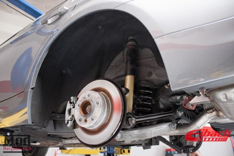 Gray BMW E90 328i Wheel Well