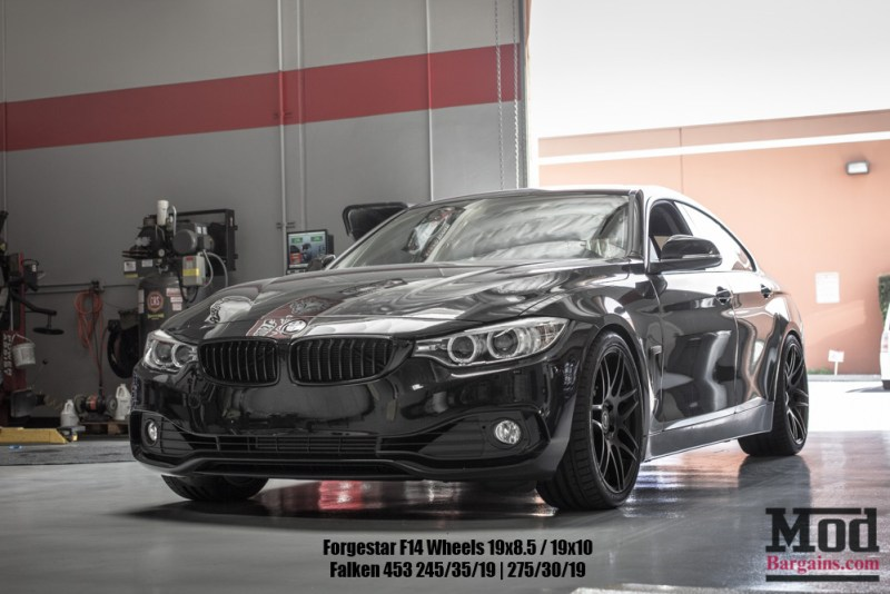 Black BMW F36 428i GranCoupe Black Wheels