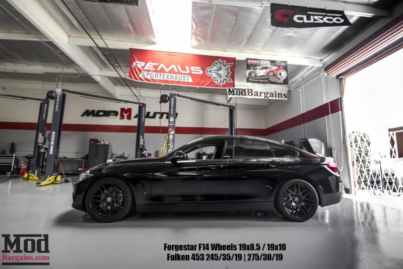 Black BMW F36 428i GranCoupe Sideview Black Wheels