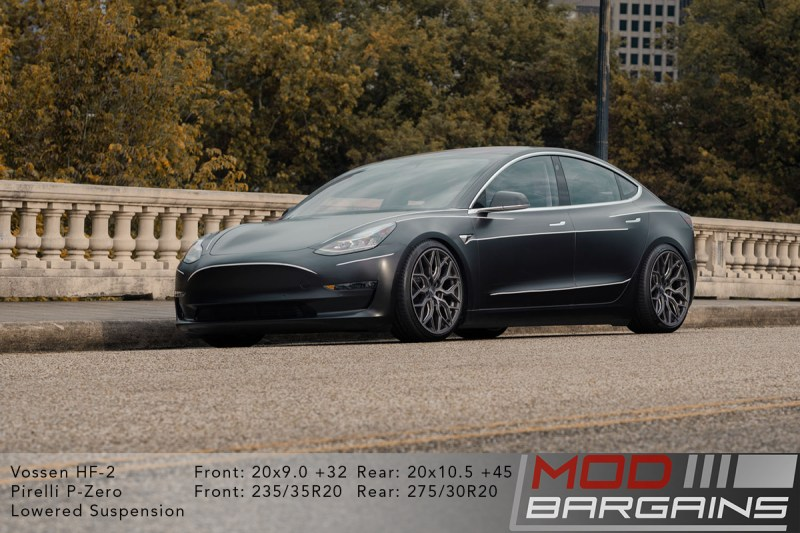 Tesla Model 3 on 20 inch Vossen HF2 Wheels