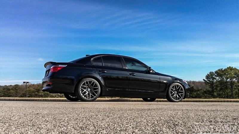 BMW E60 550i - Matte Black M310 - agwheels