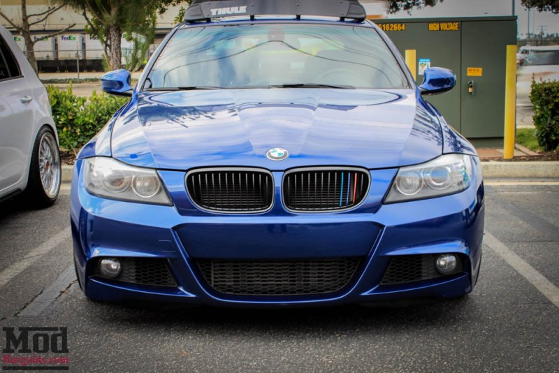 BMW_E90_335i_Advan_Michelin_Blue_roof_rack_ae_exhaust-1