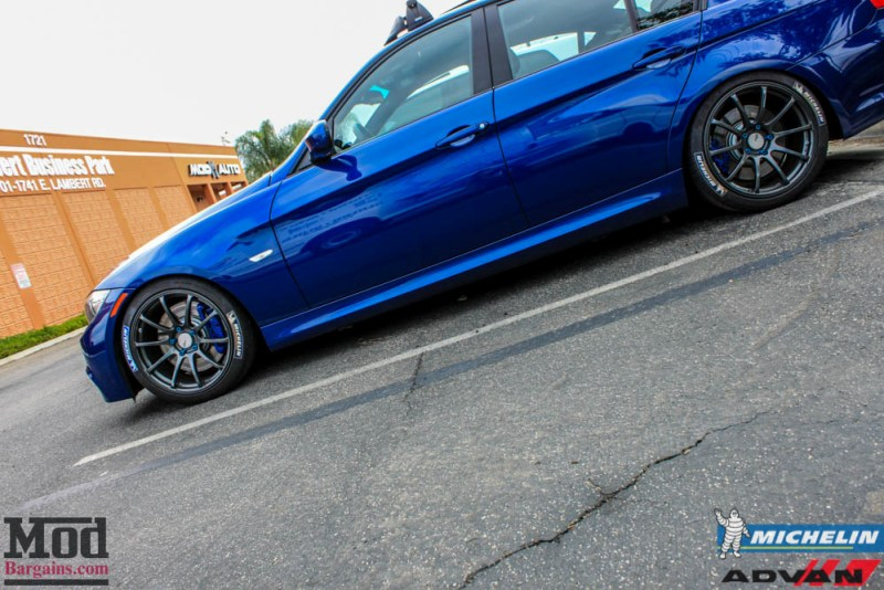 BMW_E90_335i_Advan_Michelin_Blue_roof_rack_ae_exhaust-5