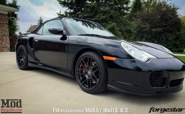 Quick Snap: Porsche 996tt on Forgestar F14 Black Graphite Wheels