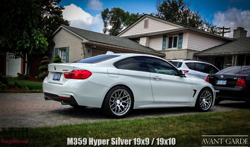 """BMW 428i - 19x9"""" / 19x10"""" Hyper Silver M359"""