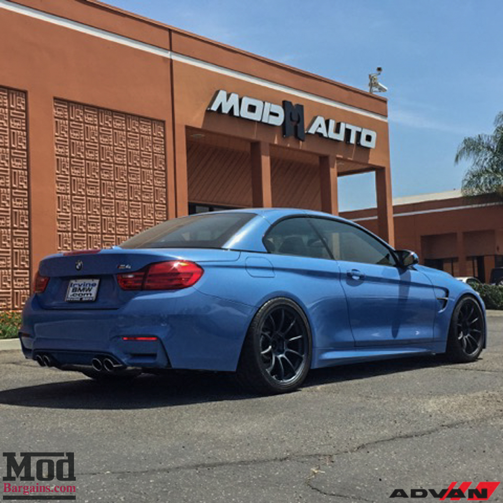 Yas Marina Blue BMW M4 Cabriolet On Advan Wheels