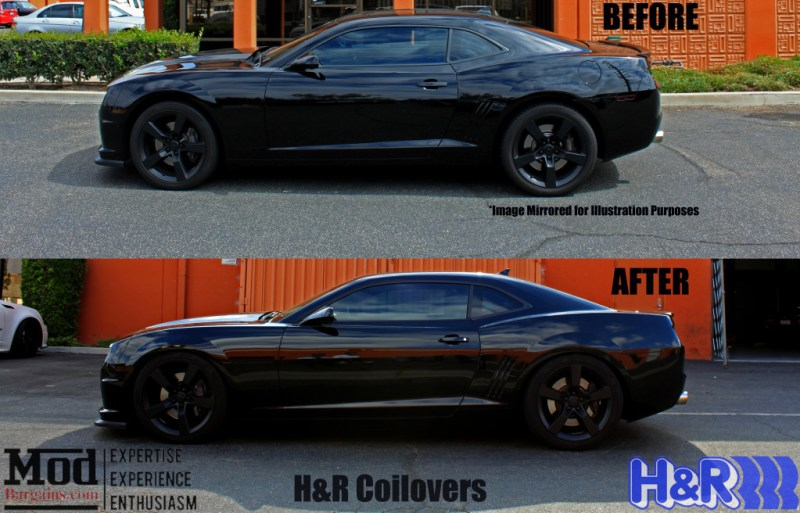 Camaro HR Coilovers Before After
