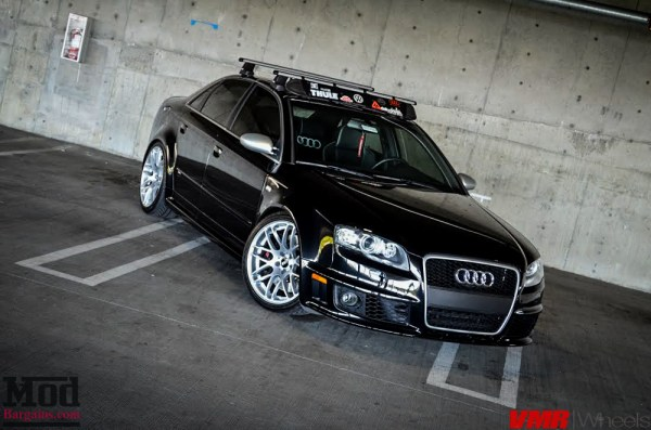 Quick Snap: B7 Audi RS4 On VMR V718 Wheels