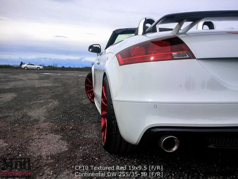 Audi TT Mk2 Forgestar CF10 19x95 Textured Red TimChen (1)