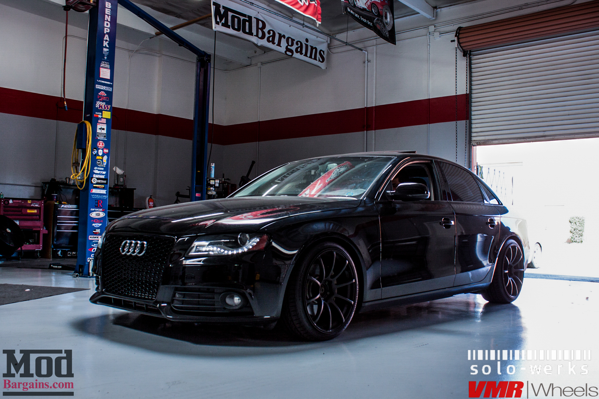 b8 audi a4 on solo werks coilovers gets rs4 grille. Black Bedroom Furniture Sets. Home Design Ideas