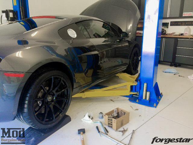 Audi R8 Forgestar CF10 Gloss Black 19x85 19x11 Michelin PSS Tires 003