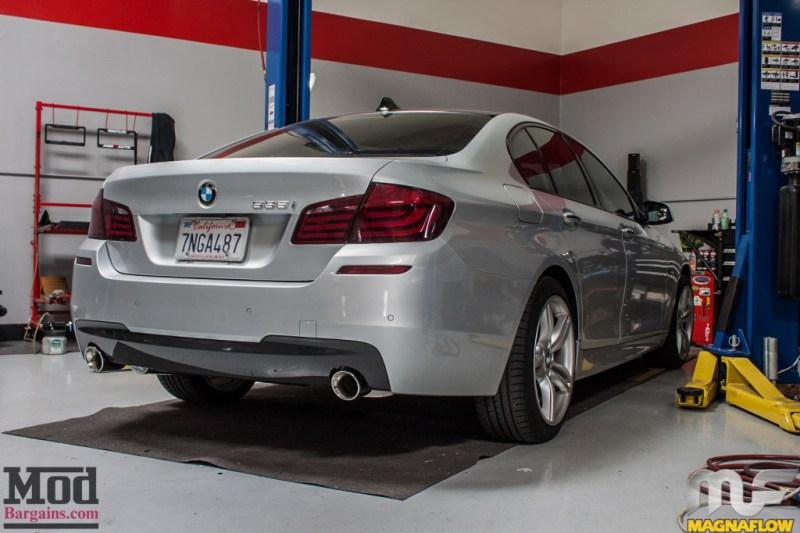 BMW F10 535i Silver Magnaflow Catback Exhaust (13)