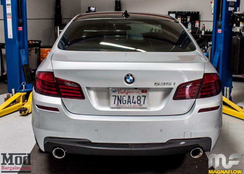 BMW F10 535i Silver Magnaflow Catback Exhaust (9)