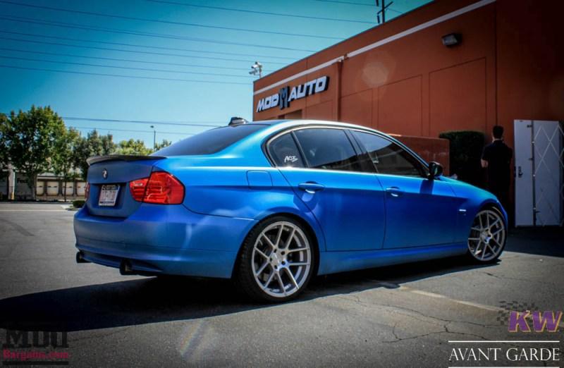 BMW_E90_335xi_Avant_Garde_M510_19in_Silver_KW_V1_Coilovers_AE_Catback_-28