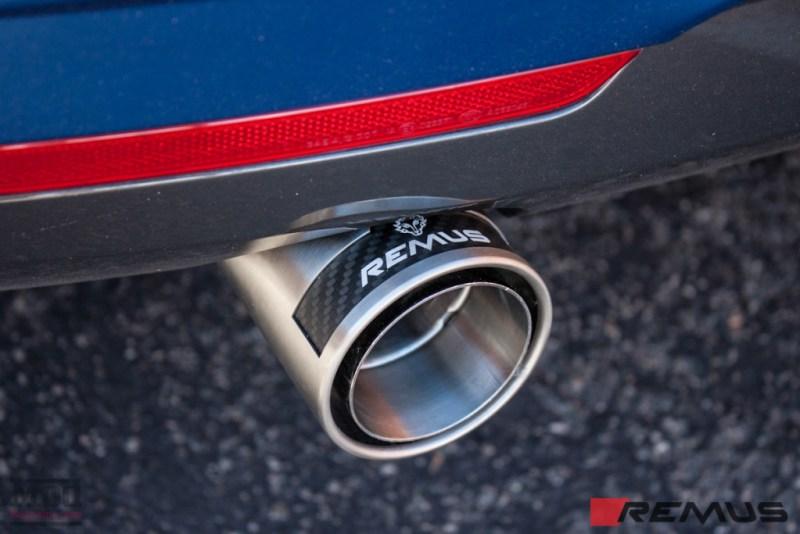 BMW_F32_435i_MatteBlue_Remus_Exhaust-1