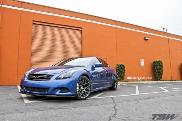 Quick Snap: Infiniti G37 on TSW Nurburgring Wheels + Tanabe Springs
