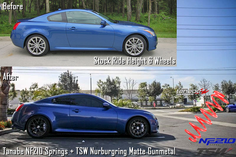 Infiniti_G37_TSW_Nurburgring_Tanabe_NF210_Springs_before-after