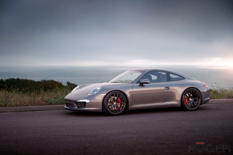 Porsche 991 Carrera S - Matte Black Ruger Mesh - agwheels