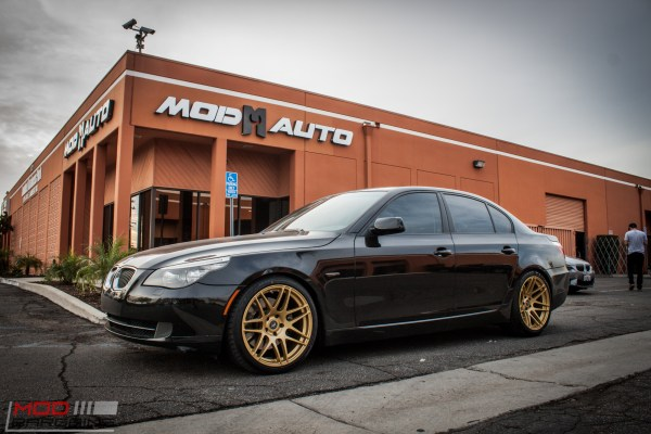 Quick Snap: E60 BMW 535i on Race Gold Forgestar F14 Super Deep Wheels