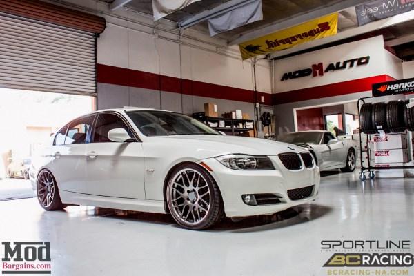 Stock? Or is it…? David Z's Clean E90 BMW 328i on BC Coilovers gets Sportline 8S Wheels