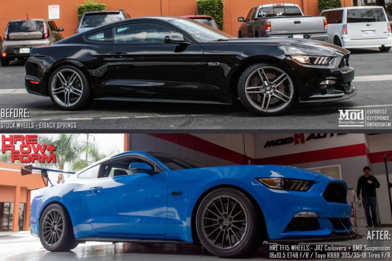 Ford_Mustang_S550_Before_After_HRE_FF15_front