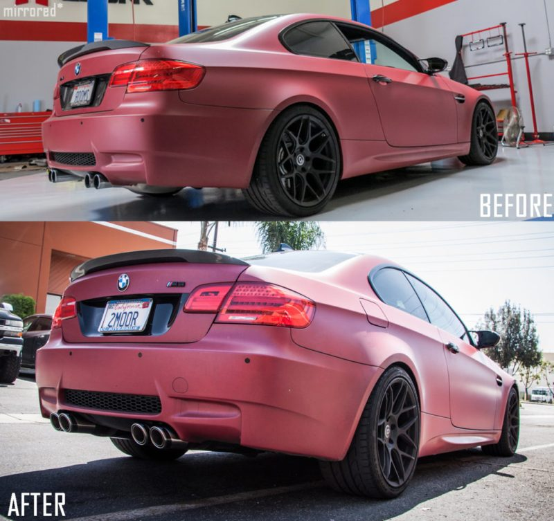 BMW E92 M3 Temoor HRE FF01 Remus CarbonRace beforeafter1