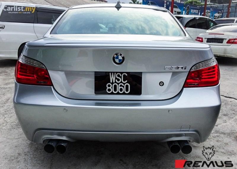 BMW_E60_530i_remus_Quad_Exhaust_Img004