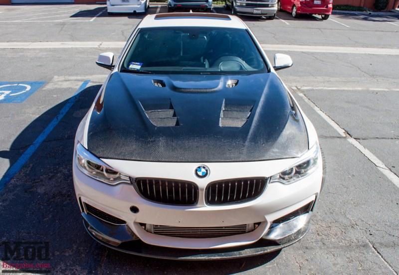 BMW_F32_428i_Rohana_RF2_MatteBlack_CFHood_Splitter_Skirts_Diff_5