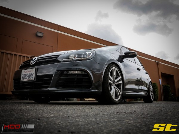 Get Low: Mk VI VW Golf R on ST Coilovers @ ModAuto