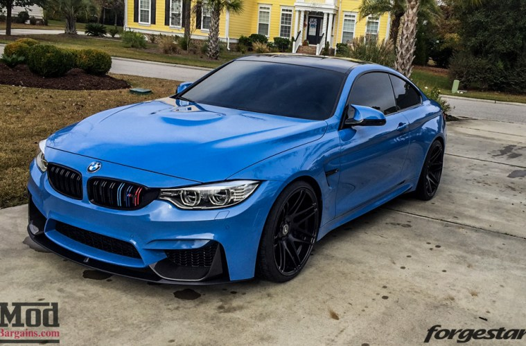 Dinan Equipped F82 Bmw M4 On Black 20in Forgestar F14s