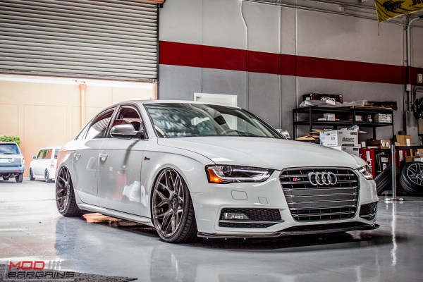 AWE-Equipped & Airrex Bagged Audi S4 on AG M590s gets DEVAL Aero