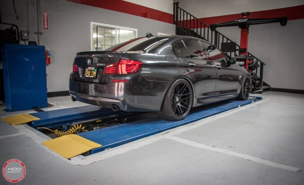 Quick Snap: F10 BMW 535i on Forgestar F14s & BC Coilovers