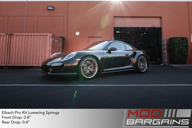 Porsche 991 911 turbo 2014 black eibach pro kit lowering springs DPE wheels