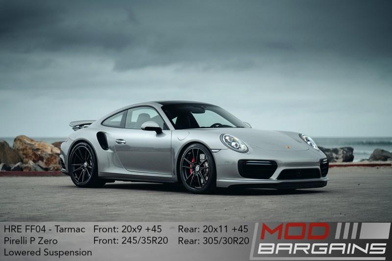Porsche 991 911 Turbo HRE FF04 Tarmac Black Pirelli P Zero