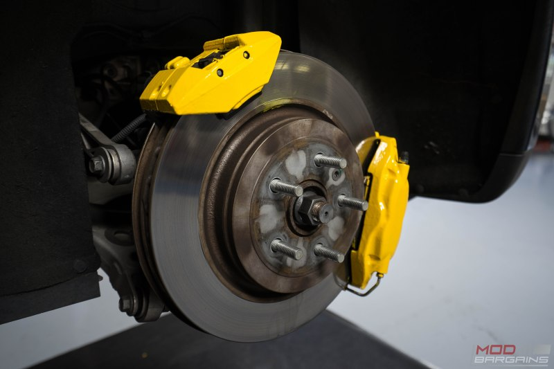 tesla p90d forgestar f14 continental extreme g2 caliper paint