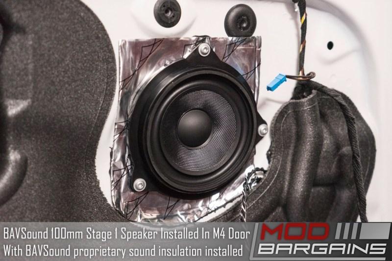 BAVSound Stage One Speaker Upgrade Installed in M4 Door with Sound Insulation