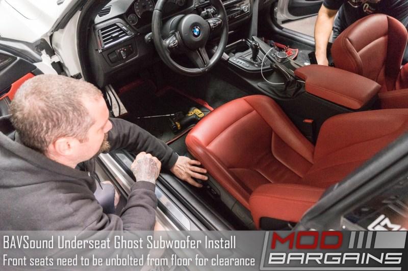 BAVSound Ghost Underseat Woofer Install In Progress