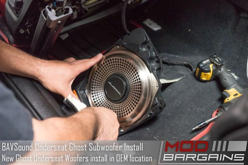 BAVSound Ghost Underseat Woofers Installed
