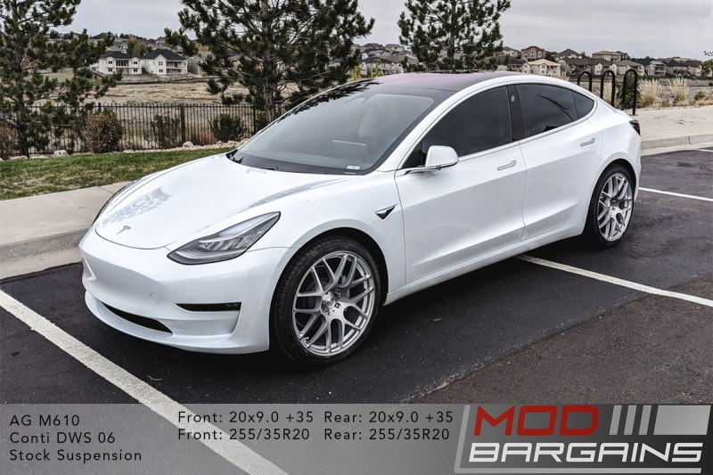 Tesla Model 3 on Avant Garde AG M610 20x9 +35 front and rear