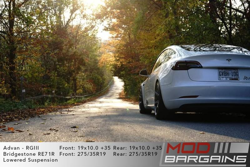 Tesla Model 3 on Advan RGIII RG3 19x10 +35 front and rear