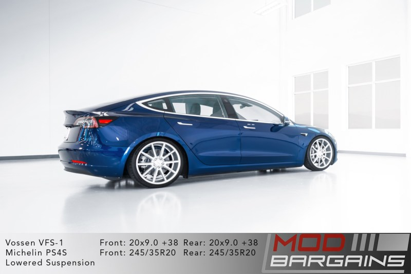 Tesla Model 3 on Vossen VFS-1 - 20x9.0 +38 front and rear