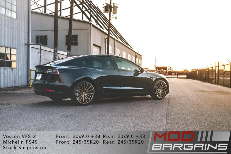 Tesla Model 3 on Vossen VFS-2 - 20x9.0 +38 front and rear